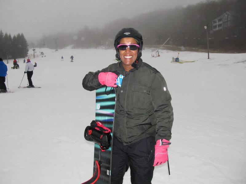 Snowboardingat Beech Mountain