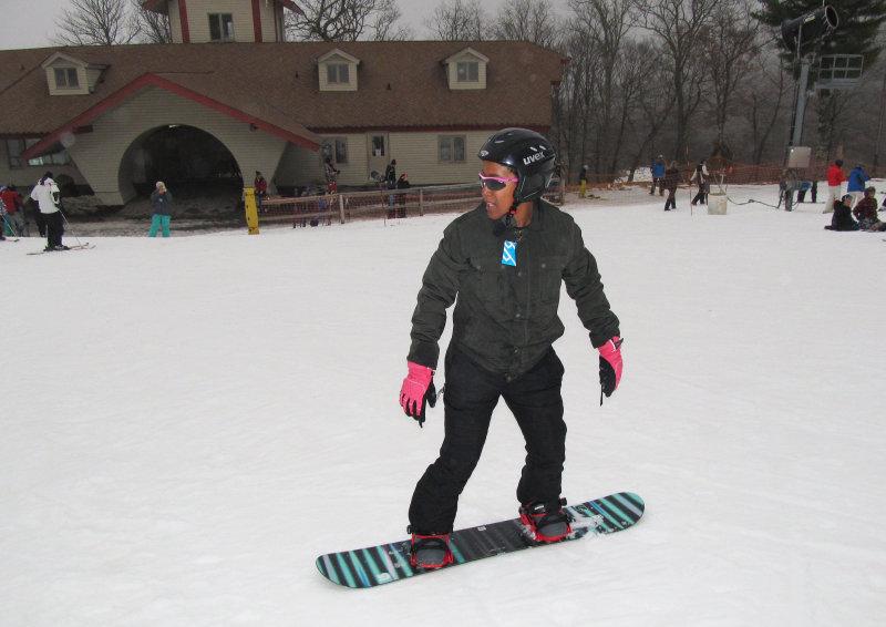 Snowboarding at Beech Mountain