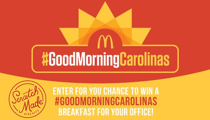 McDonald's Good Morning Carolinas enter to win