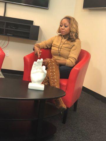 LaTavia Roberson In The Radio One Charlotte Social Studios