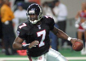 Atlanta Falcons rookie quarterback Michael Vick lo