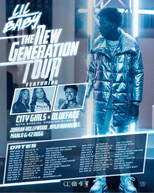Lil Baby The New Generation Tour Flyer