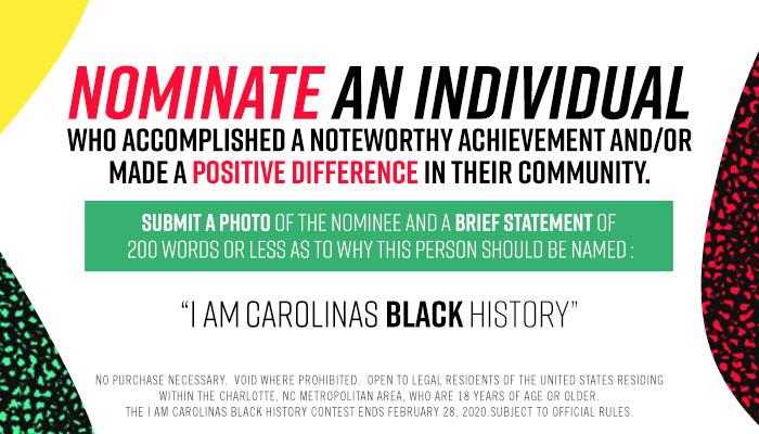 Local: I Am Carolina's Black History UGC - BHM 2020_January 2020