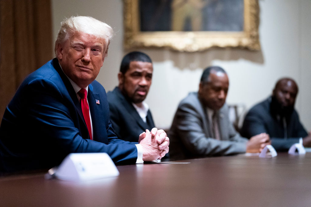 President Trump Holds Roundtable Discussion At White House
