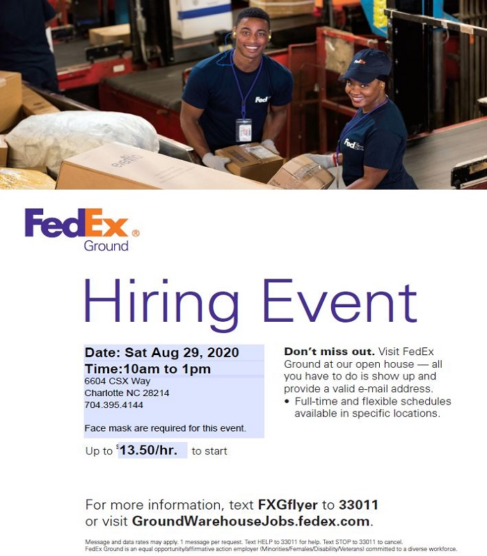 FedEx Hiring Event Charlotte